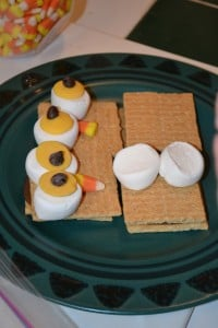 making owl smores