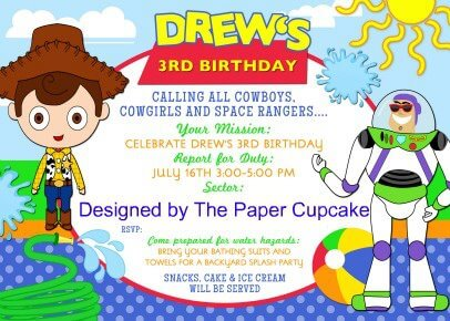 Toy Story 3 Party – Toy Story Party Invites