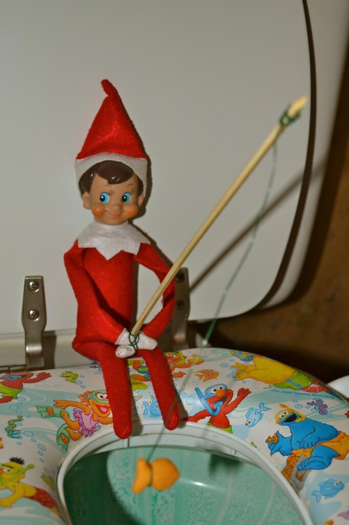 Elf On A Shelf Goes Fishing