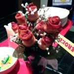 A Valentine Bouquet of Bacon Roses
