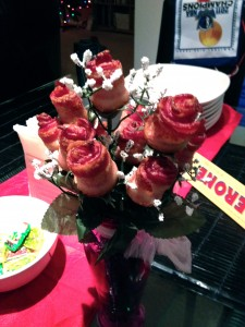 bouquet of bacon roses