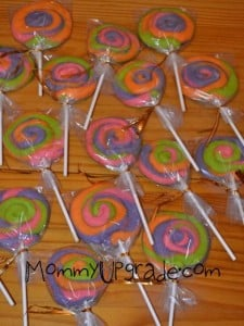 finished lollipop cookies