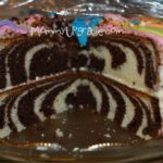inside of cake with zebra stripes