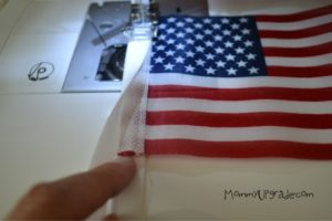 how to make an american flag banner