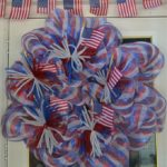 deco mesh flag wreath