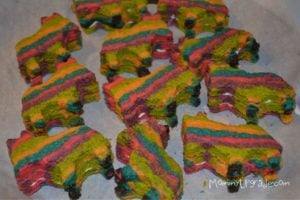 making pinata cookies for cinco de mayo