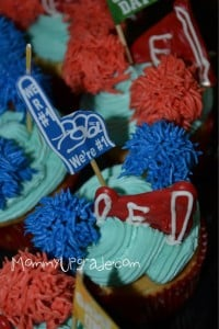 cheerleader cupcakes