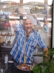 guy fieri of diners drive ins and dives at dallas pecan lodge