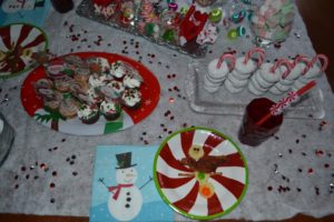 top view of north pole breakfast table