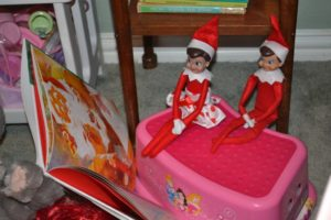 elf on a shelf reading