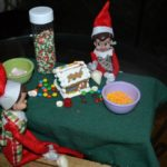 Elf on a Shelf Mischief: Day 8 Gingerbread House
