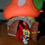 Elf on a Shelf mischief: Day 19 Smurf Village