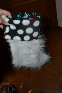 fur christmas stocking