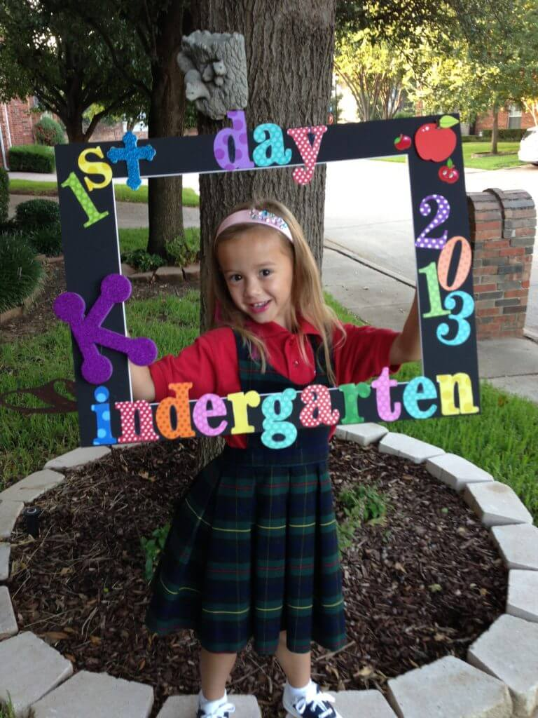 Back To School First Day Photo Frame Mommy Upgrade