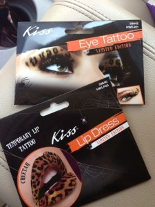 eye and lip tattoos for halloween