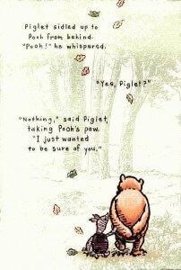 pooh and piglet in the woods