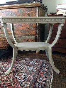 after photo of antique table chalk paint