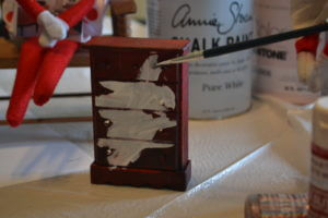 elf painting doll furniture