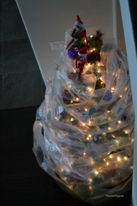elf wrapped tree