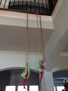 elf on a shelf swings from panties