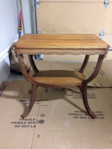 antique table destined for refinishing