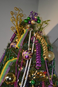 angled view of mardi gras tree