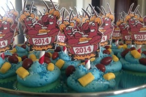 crawfish boil cupcakes