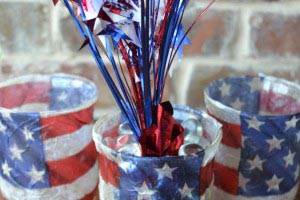 July 4th Candle Holders