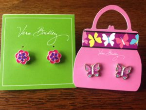 vera bradley beaded post earrings