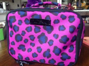 vera bradley  lunch mate in leopard spots