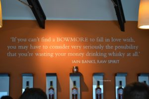 quote at bowmore distillery