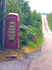 phone booth on Islay, Scotland