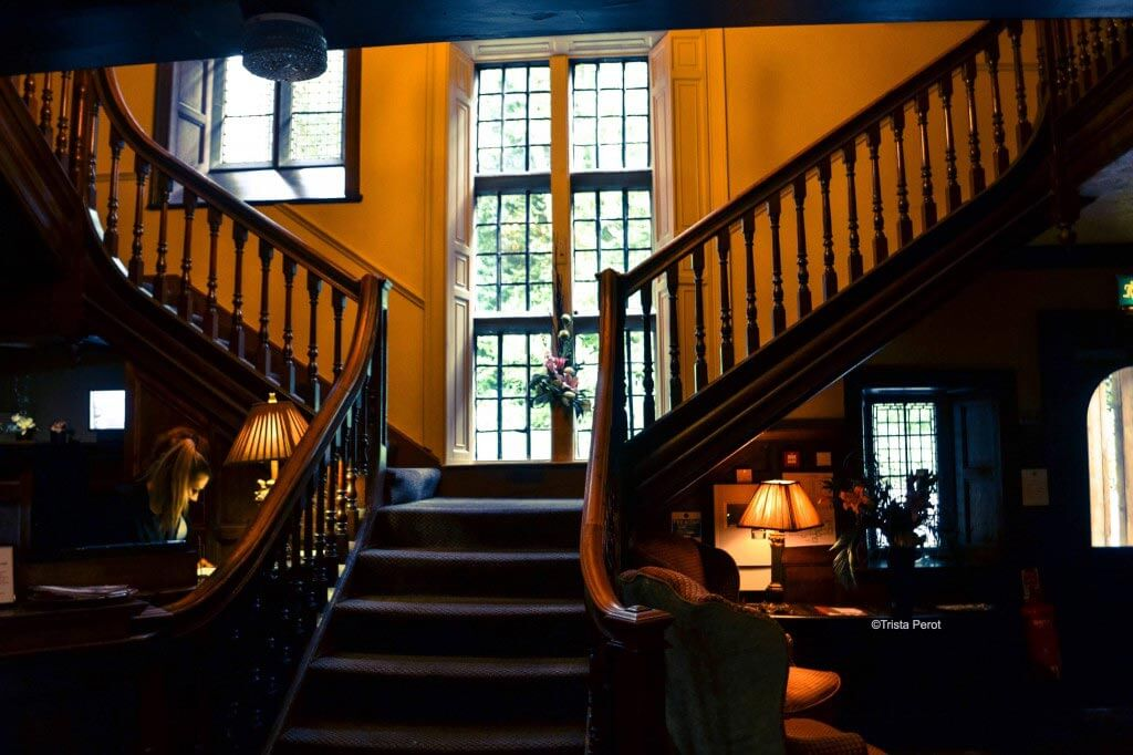 staircase at Whitley Hall Hotel