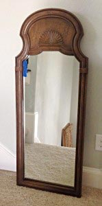 before photo of upcycle mirror