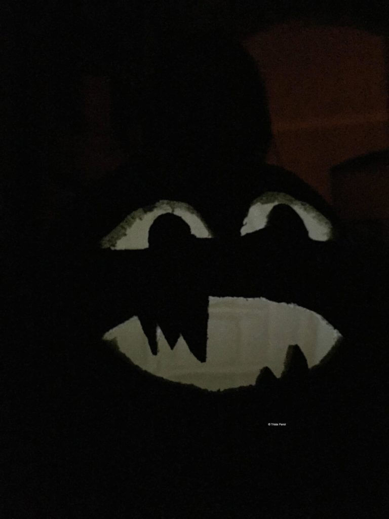wicked pumpkin glowing