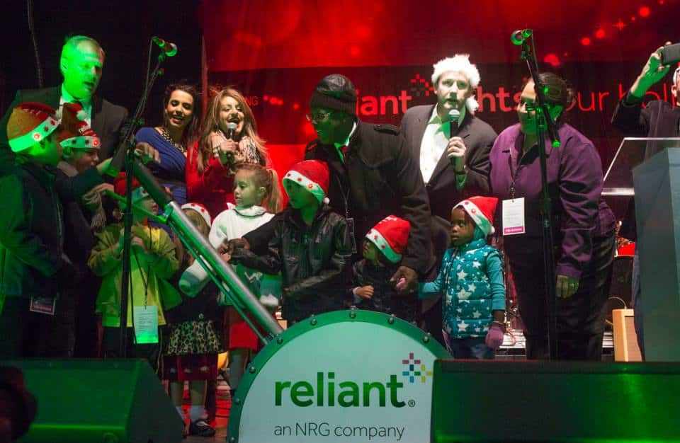 Reliant & AT&T LIght Up downtown dallas