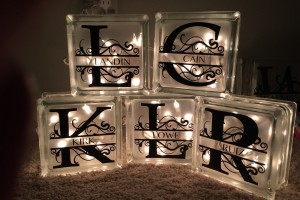 DIY Decorative Glass Blocks