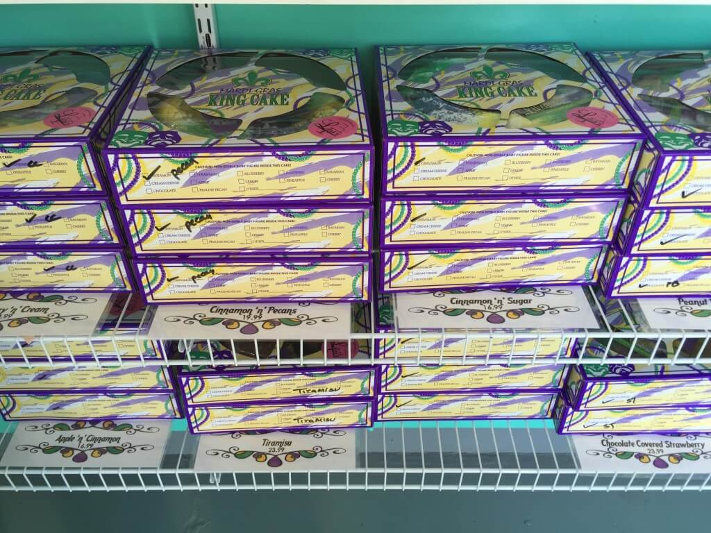stacks of king cakes