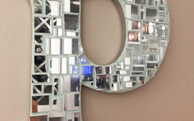 How to make mosaic mirror monogram letters