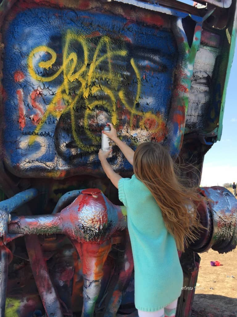 princess cupcake at cadillac ranch