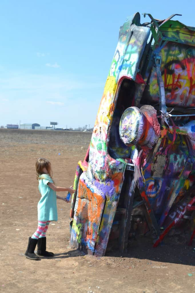 painting at cadillac ranch