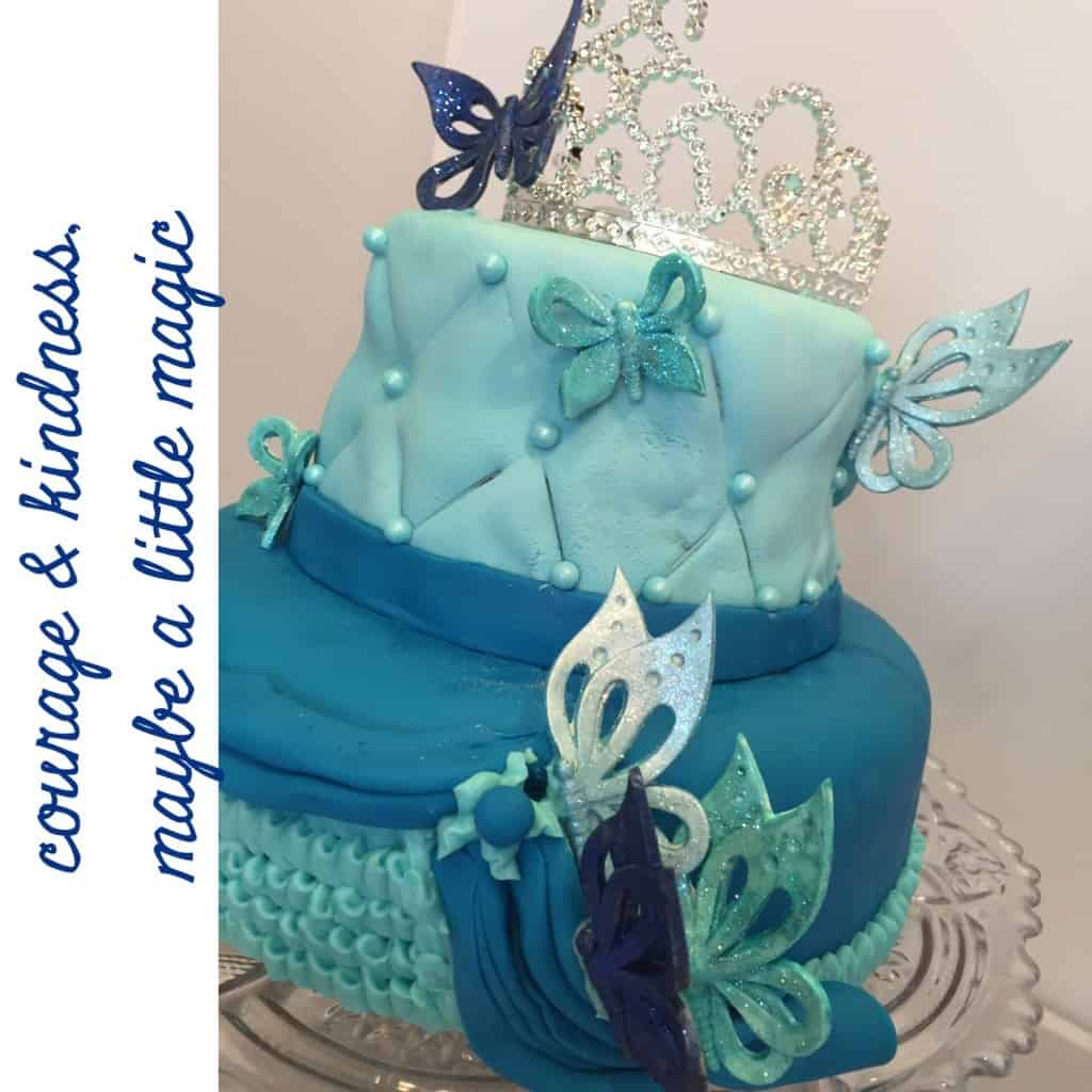 cinderella-themed birthday cake