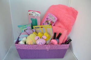 spa easter basket for little girls