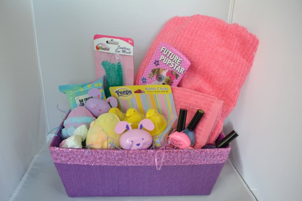 No candy spa theme easter basket ideas spa easter basket for little girls negle Choice Image