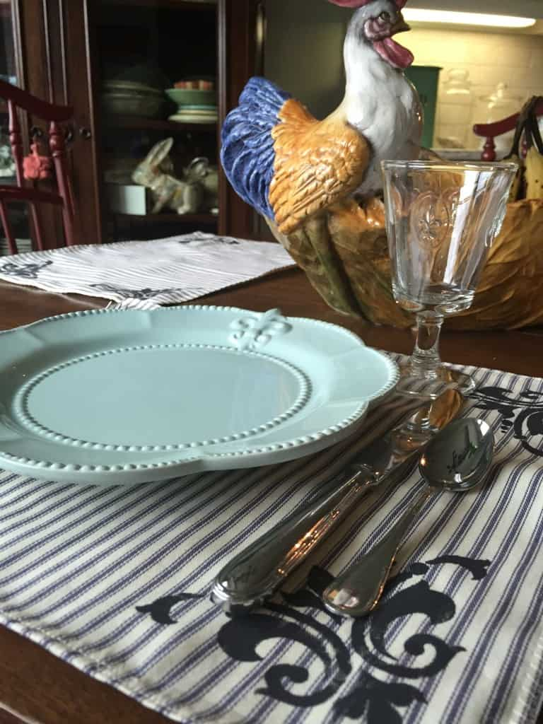 french country placesetting