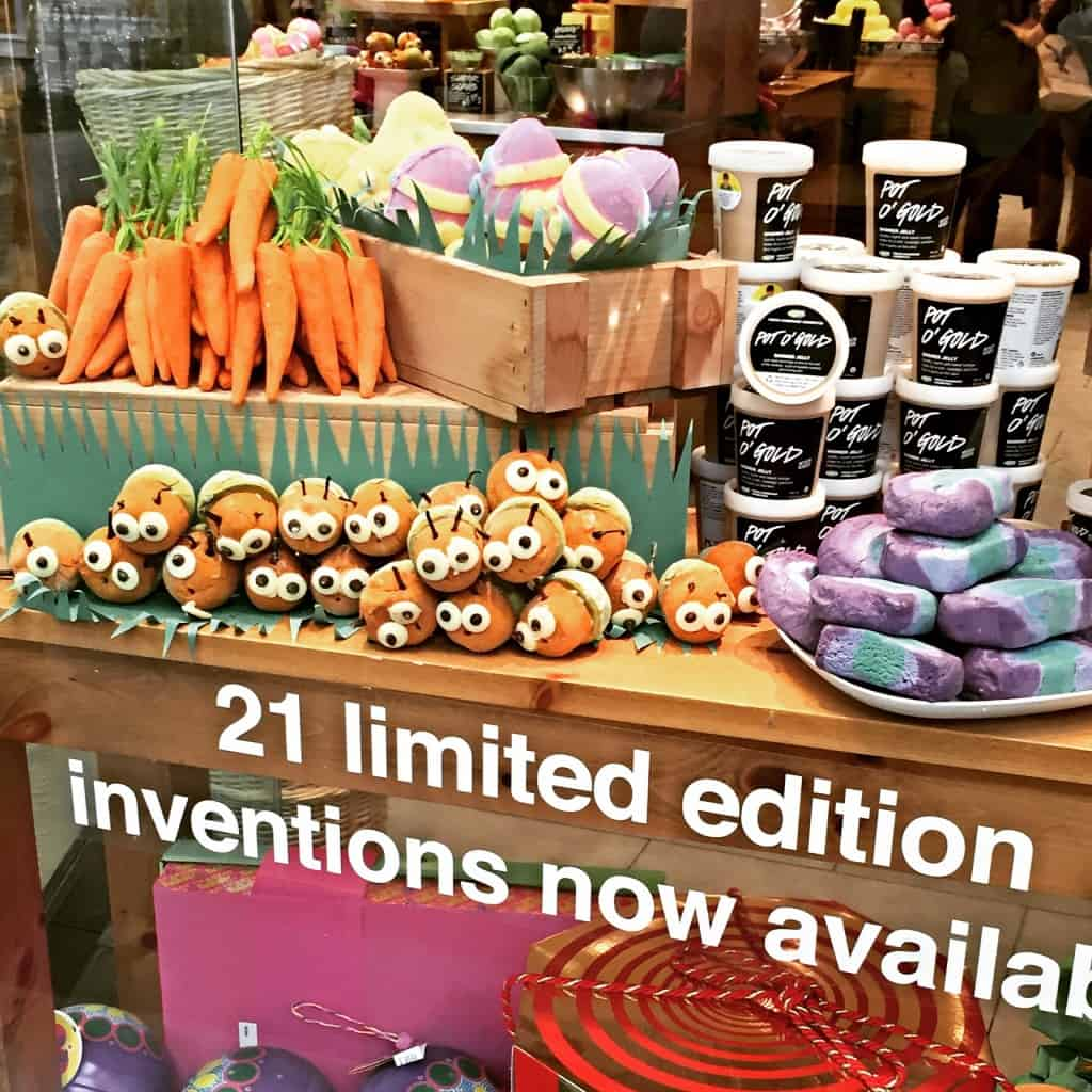 LUSH store window for easter
