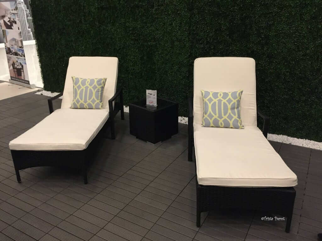 Outdoor Chaise Lounges At Modani Dallas