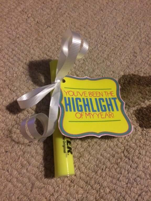highlighter as a gift for teacher appreciation day