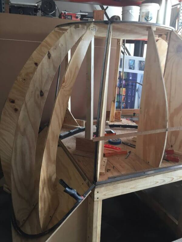 wooden dome for stained glass
