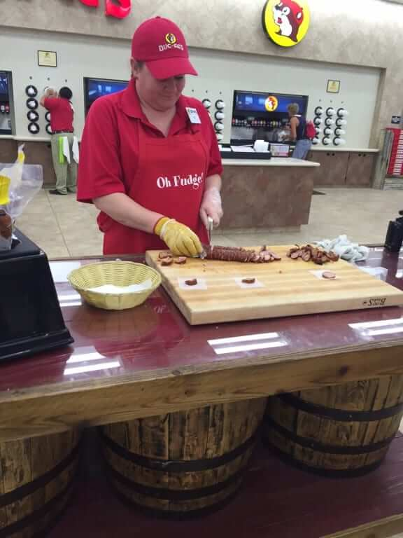 sausage station at Buc-ee's Terrell